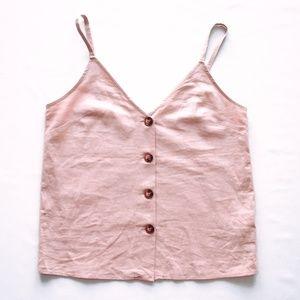 Topshop Pink Button Cami